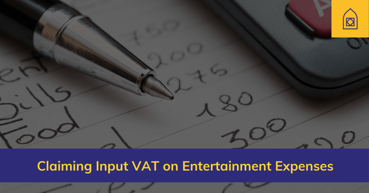 Claiming Input VAT on Entertainment Expenses